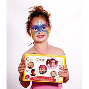 GRIM TOUT Coffret de maquillage couleur, sans paraben, accessoires paillettes pochoirs et mini guide