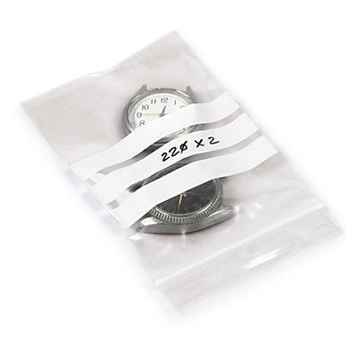 Sachet zip à bandes blanches 50 microns##Gripzakje met witte schrijfstroken 50 micron