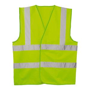 Groen signalisatievest 3 stroken XL