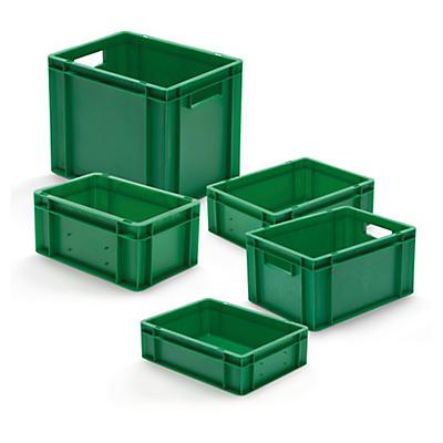Groene euronorm stapelbak met gesloten wand
