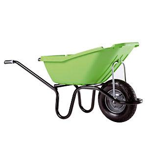Groene kruiwagen Pick up 110 L met luchtband
