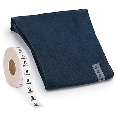 Grössen-Etiketten für Textilien
