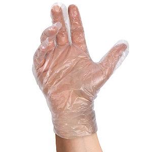 Guanti monouso in HPDE, Semitrasparenti, Taglia Unica (confezione 500 pezzi)