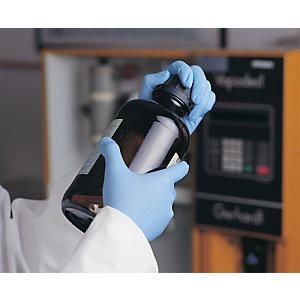 Guanti monouso in nitrile sintetico senza polvere, Blu, Taglia S (confezione 100 pezzi)