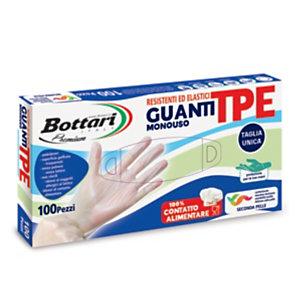 Guanti monouso in TPE Bottari, Semitrasparenti, Taglia Unica (confezione 100 pezzi)