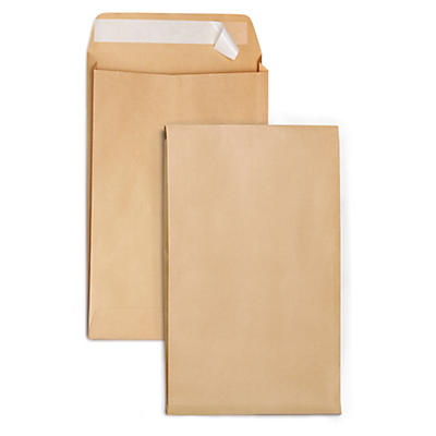 Gusseted Manilla  envelopes