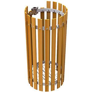 Habillage bois pour supports sacs 110 L
