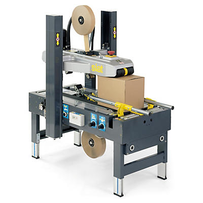 Halbautomatische Kartonverschliessmaschine mit selbständiger Formateinstellung