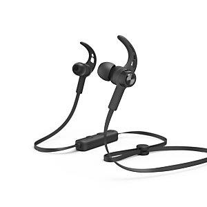 Hama Casque Bluetooth® ''Connect'', intra-auriculaire, micro, câble plat - Noir