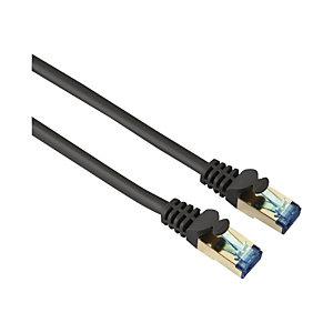 HAMA CAT 6 netwerkkabel PIMF, 10 m, dubbel afgeschermd, grijs