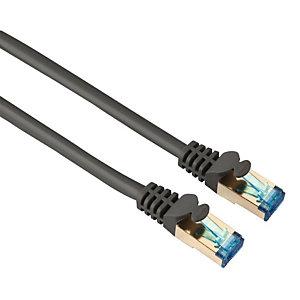 HAMA CAT-6 netwerkkabel PIMF, 3 m, dubbel afgeschermd, grijs