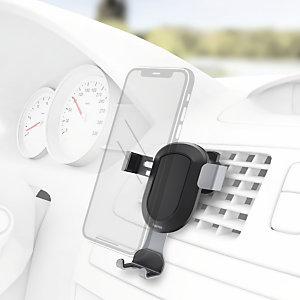 Hama Gravity Soporte de coche para smartphone, ancho 5,5-8,5 cm, negro y gris