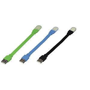 "Hama Lámpara USB para portátil ""cuello de cisne"", 8 LED, colores surtidos"
