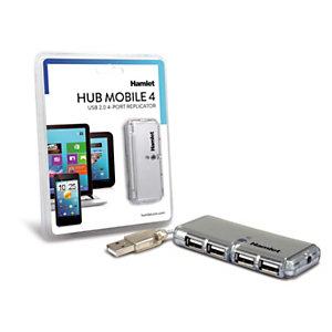 HAMLET Hub USB a 4 porte (XUSB400A)