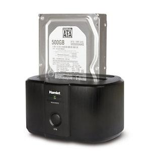 "HAMLET HXDD2535 Docking Station per Hard Disk 2,5"" e 3,5"", USB 3.0, Single bay, Nero"