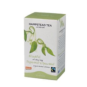 Hampstead Tea London Infuso organico Peppermint&Spearmint, 20 filtri