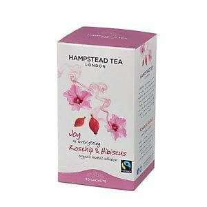 Hampstead Tea London Infuso organico Rosa Canina&Ibisco, 20 filtri