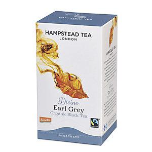Hampstead Tea London Tè nero organico Divine Earl Grey, 20 filtri