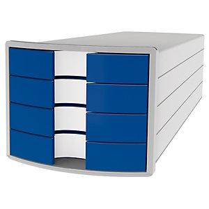 Han Impuls Cassettiera da scrivania, 4 cassetti chiusi, Blu