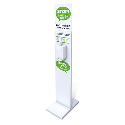 Hand Sanitiser Floor Standing Unit