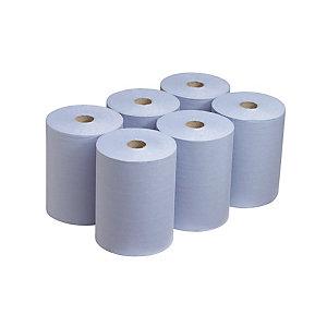 Handdoekjes Scott gemengde blauwe watten 1 laag, 6 rollen van 165 m