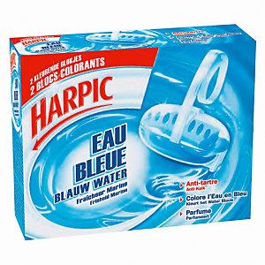 Harpic Blocs cuvette WC anti-tartre et désodorisant Eau Bleue (lot de 2)