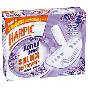 Harpic Nettoyant désinfectant Lavande boîte de 3 Blocs