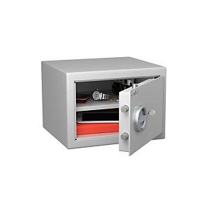 Hartmann Tresore Coffre-fort de sécurité anti-feu, serrure à clé, 24 litres - Gris clair