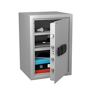 Hartmann Tresore Coffre-fort de sécurité anti-feu, à serrure électronique, 55 litres - Gris clair
