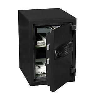 Hartmann Tresore Coffre-fort de sécurité ignifuge 60 mn, 27,5 litres - Noir