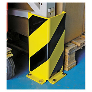 Heavy duty pallet racking protectors - corner protectors can also be used for safety