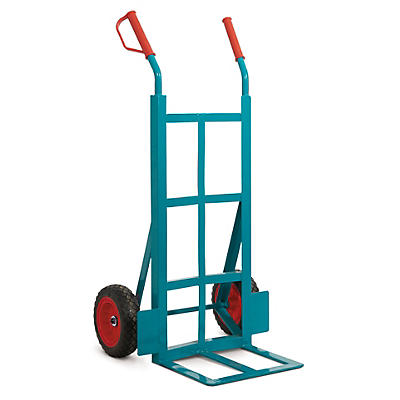 Heavy duty sack truck, angle iron