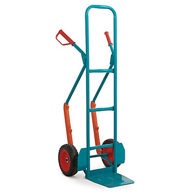 Heavy duty sack truck, high back