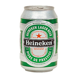 Heineken Bière en canette de 33 cl (lot de 12)