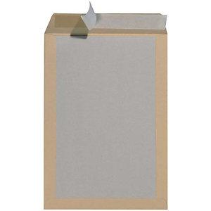 HERLITZ 100 pochettes d'expédition avec dos carton, brun, C4