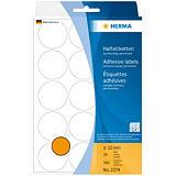 Herma Etiqueta de papel de colores adhesiva permanente, redonda, 32mm, 24 hojas, 15 etiquetas por hoja, naranja luminoso