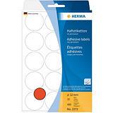 Herma Etiqueta de papel de colores adhesiva permanente, redonda, 32mm, 32 hojas, 15 etiquetas por hoja, rojo