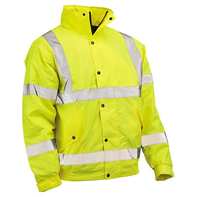 Hi-vis Saturn yellow bomber jackets