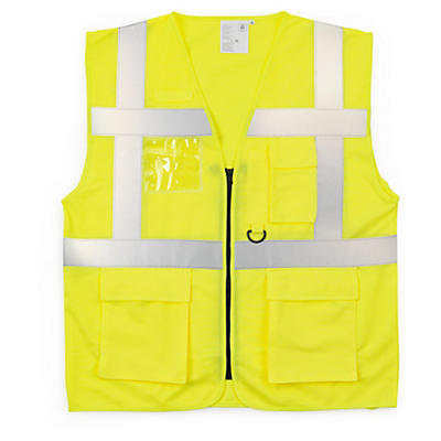 Hi-vis Saturn yellow executive waistcoats