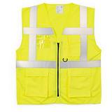 Hi-vis Saturn yellow executive waistcoats