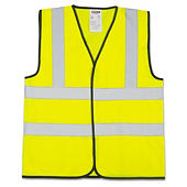 Hi-vis sleeveless vests