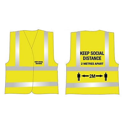 Hi-vis social distance vests