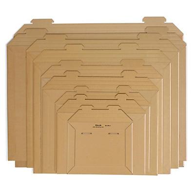 Hnedé kartónové obálky so zásuvným uzáverom RAJA