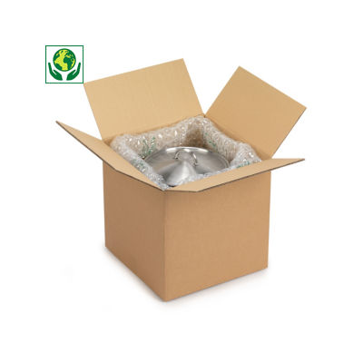 Hnědé klopové krabice se čtvercovým dnem RAJA, 5VVL