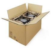Hnědé klopové krabice RAJABOX ze sedmivrstvé vlnité lepenky, paletovatelné