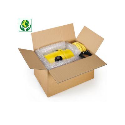 Hnědé klopové krabice z pětivrstvé vlnité lepenky RAJA, od 400 do 480 mm