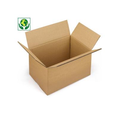 Hnědé klopové krabice z pětivrstvé vlnité lepenky RAJA, od 700 mm
