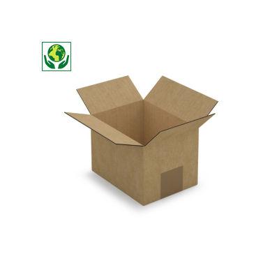 Hnědé klopové krabice z třívrstvé vlnité lepenky RAJABOX, A5, A6, A6+