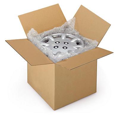 Hnědé klopové krabice z třívrstvé vlnité lepenky RAJABOX, od 400 do 490 mm