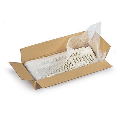 Hnědé klopové krabice z třívrstvé vlnité lepenky RAJABOX, od 500 mm